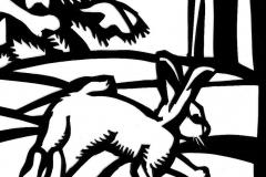 The Little Fir Tree- Cut paper illustration