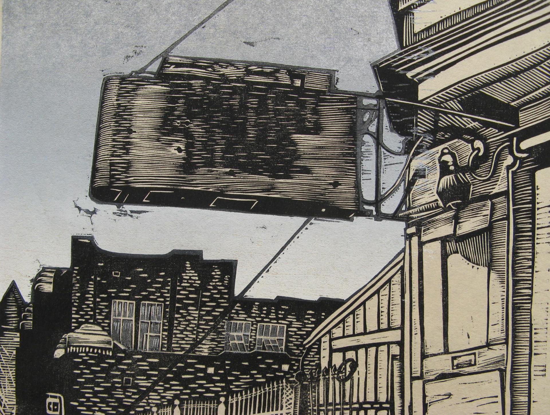 Empty Sign woodcut print 2010