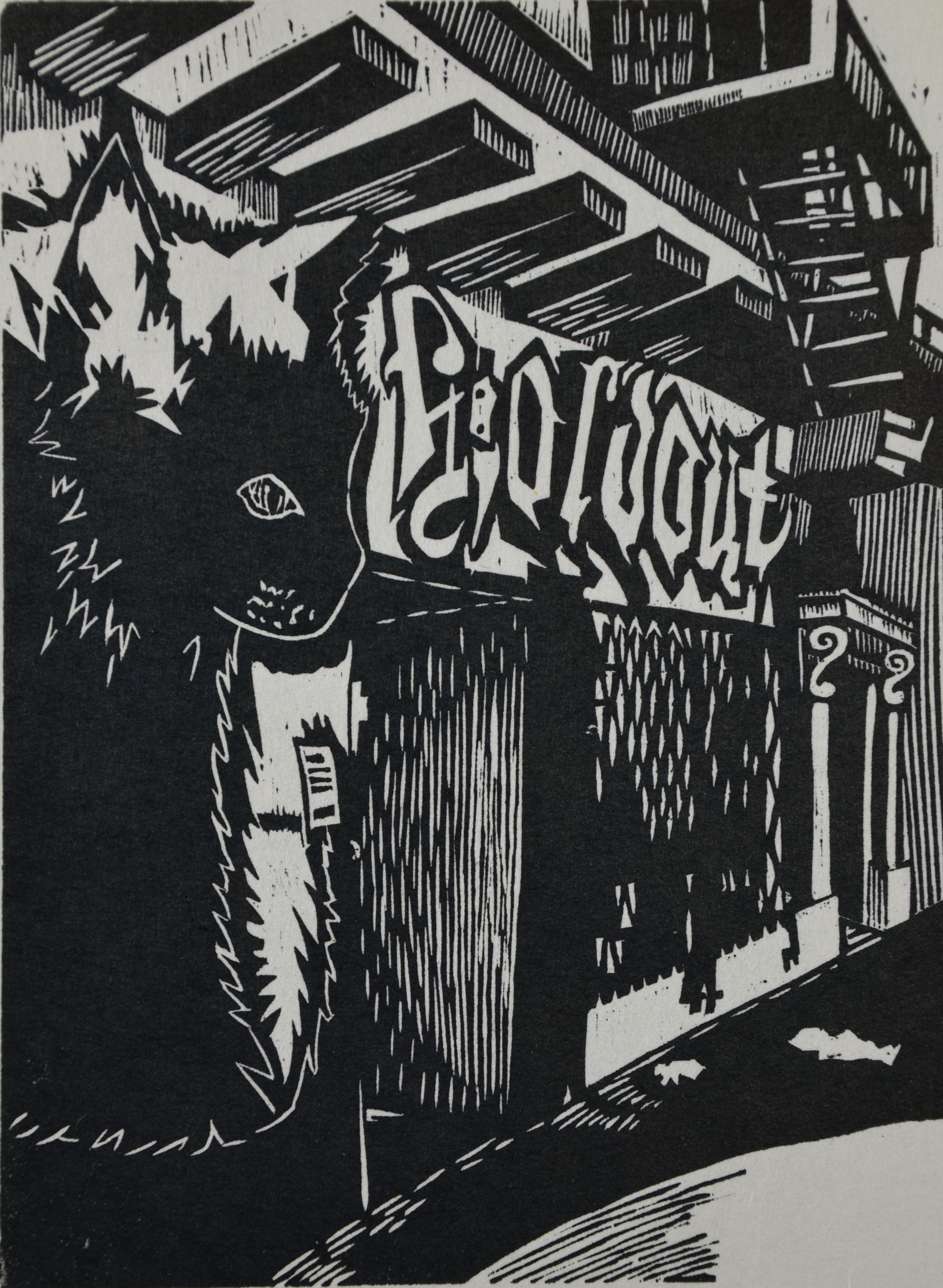 The Holdout woodcut print 2014