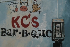 KC's Bar-B-Que oil painting on paper 2013