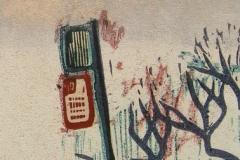 Mirrors Auto Glass woodcut and linocut print 2009